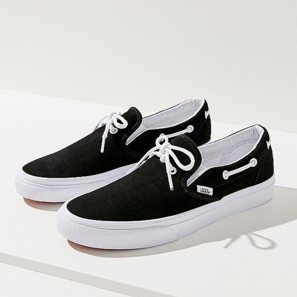 Vans Slip Ons With Lace Detail | Poshmark